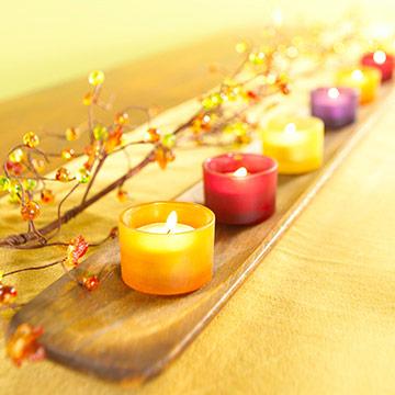 декорация на свещи