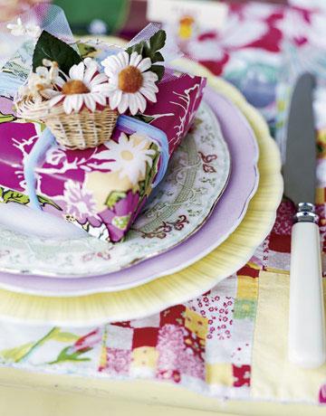 пролетни декорации за маса