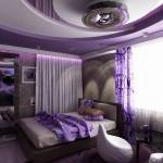 спалня в лилаво