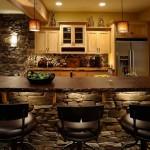 Декориране на кухнята с камък