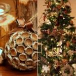 Коледна украса с жълъди