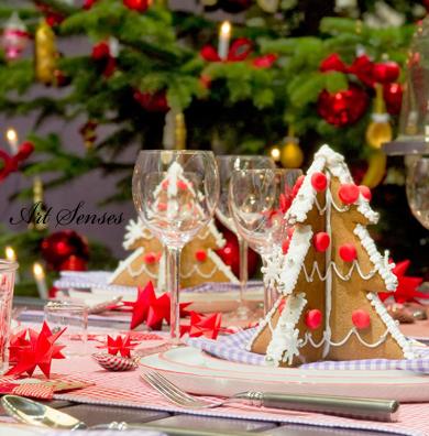 Вкусна коледна украса за маса