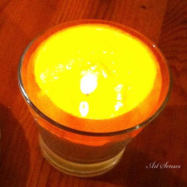 Маслена лампа от портокал или мандарина