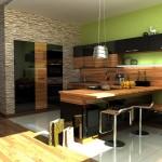 Кухня в зелено (12)