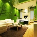 Всекидневна в зелено