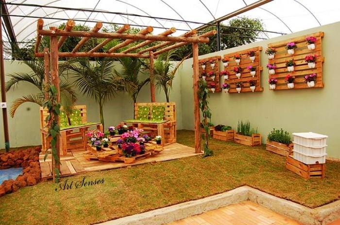 Градински декорации с палети и щайги
