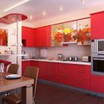 Кухня в червено