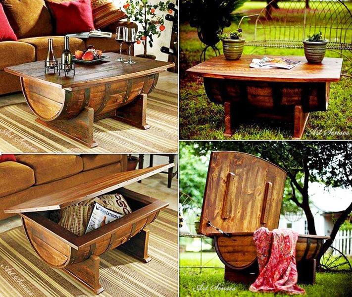 мебели от буре или бъчва