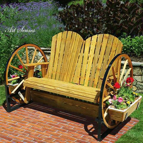 градински мебели от колела на каруца