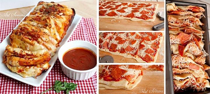 Вкусна пица на пластове