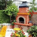 Зидана пещ или барбекю в градината