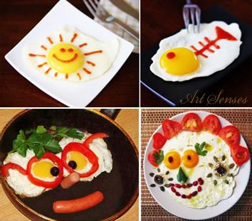 Украса на пържени яйца