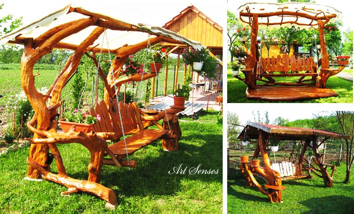 Идеи за градински люлки и пейки