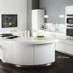 Модерна кухня в бяло (1)