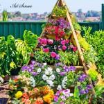 Пирамидални цветни градини