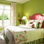 Beautiful Spring Color Decorating Ideas Bedroom Floral Curtain