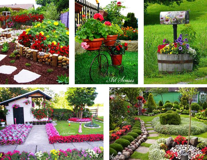 Идеи за аранжиране на цветя в градината