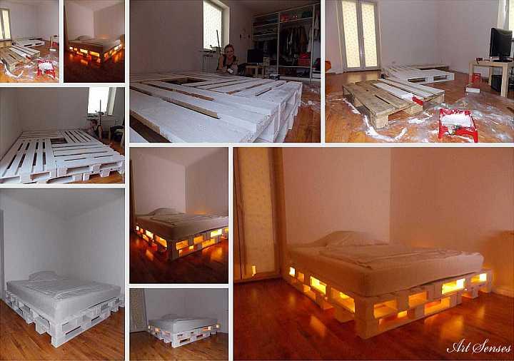 Светещо легло от палети