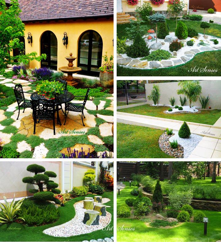 Зелени градински кътчета
