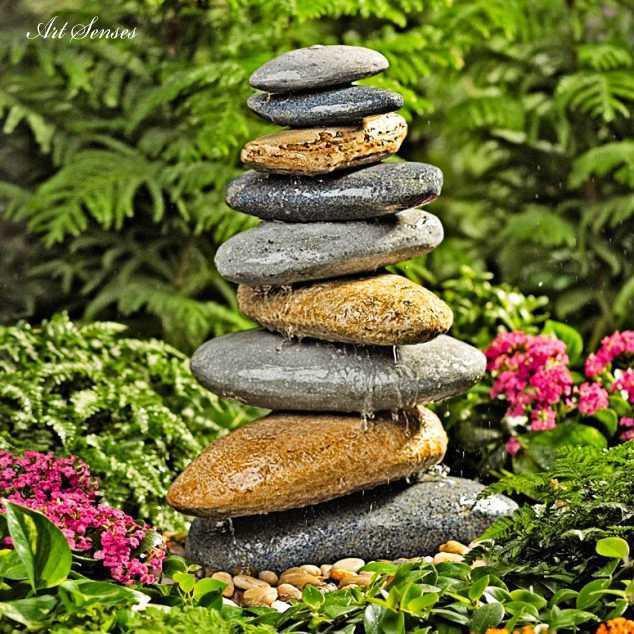 Градински фонтан от камък