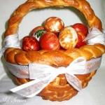 Кошнички от тесто за салата и яйца