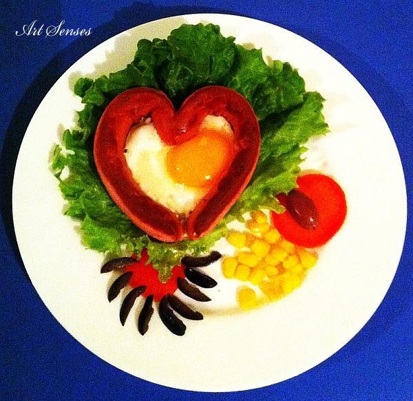 Яйце с форма на сърце