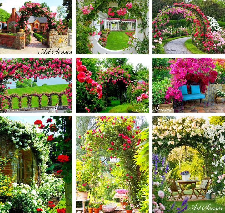 Цветни арки в градината