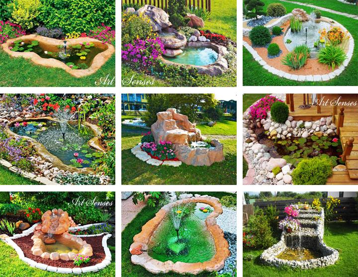 Идеи за дизайн на градинско езеро