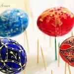 Сушене на боядисани великденски яйца