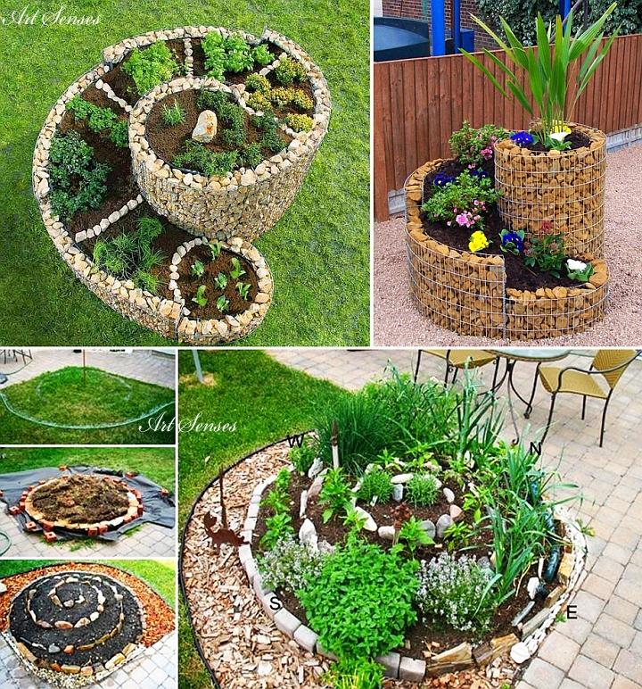 Спираловидна билкова градинка