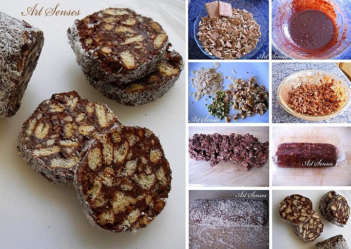 Шоколадова мозайка с бисквити - един много лесен, бърз и вкусен десерт