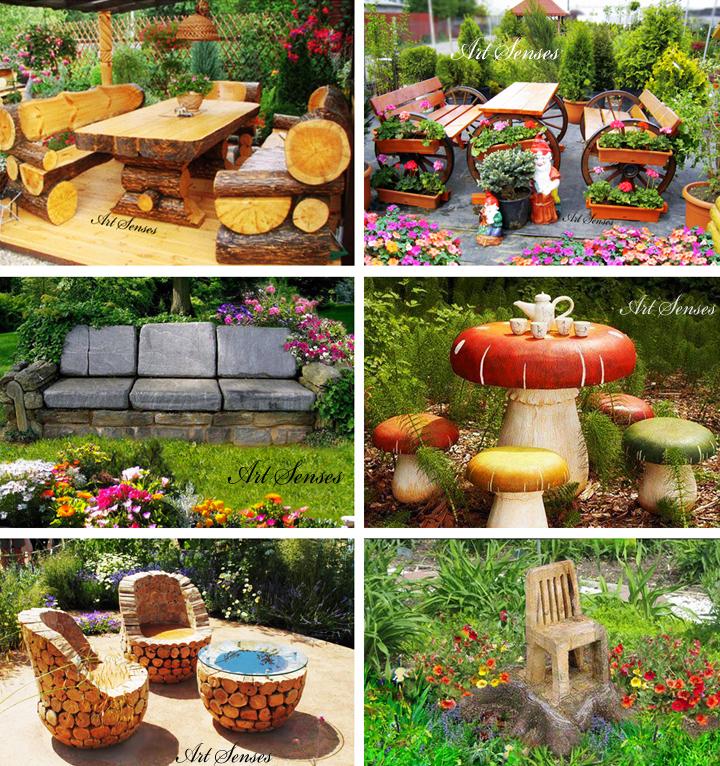 Артистични мебели в градината