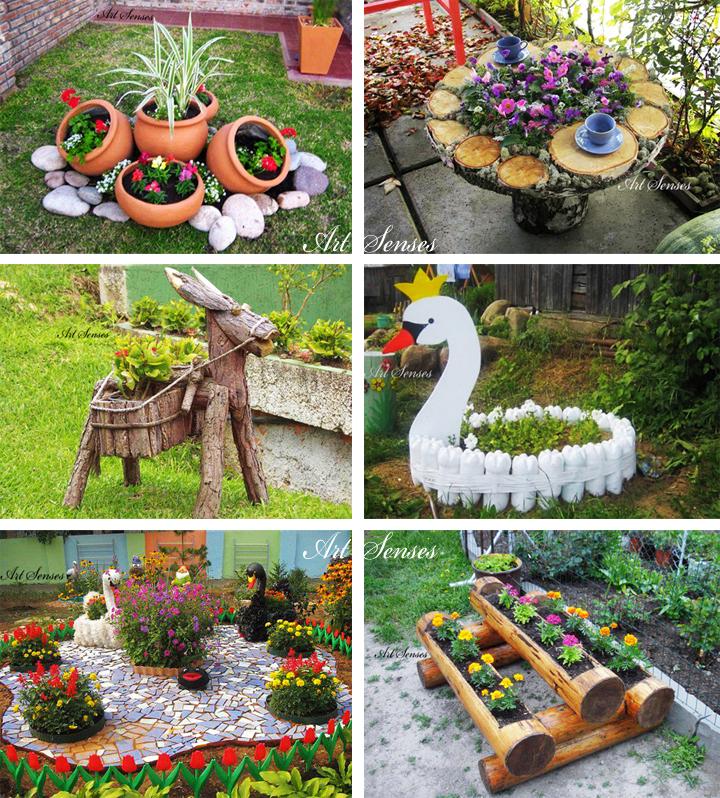 Идеи за градински декорации