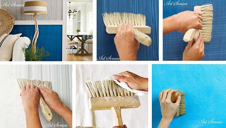 Техники за артистични декорации на стени с четка