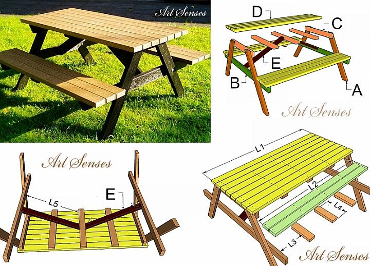 Градинска маса за пикник