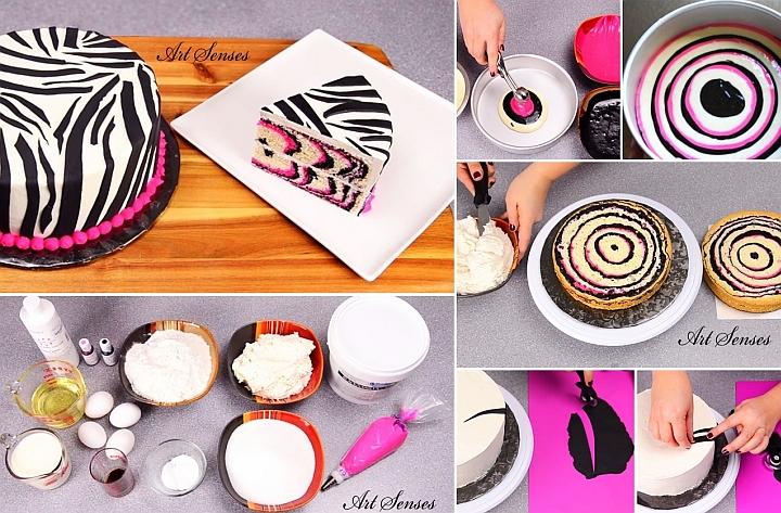 """Торта """"Розова зебра"""""""
