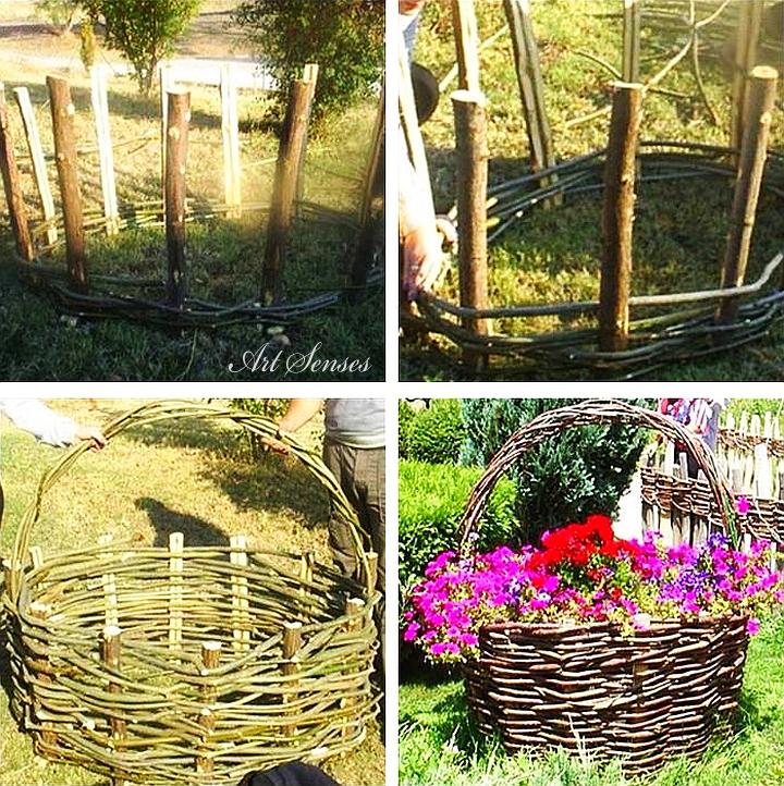 Плетена градинска кошница