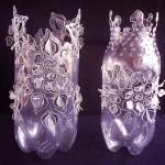 Изрязване и украса на пластмасова бутилка
