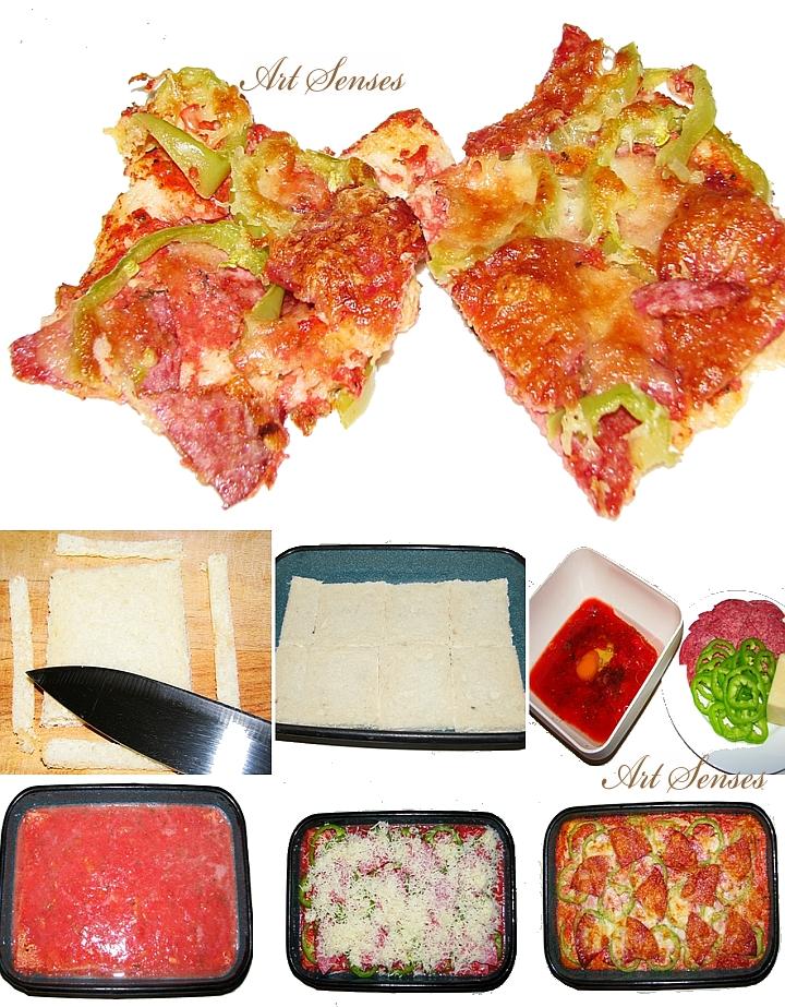 Бърза, лесна и много вкусна пица от хляб