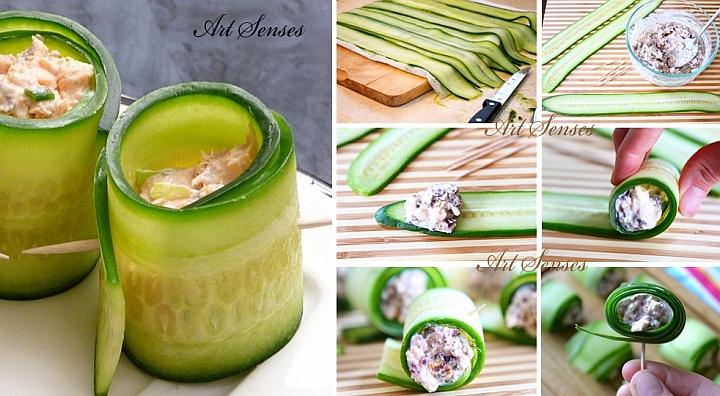 Свежи ролца от краставица