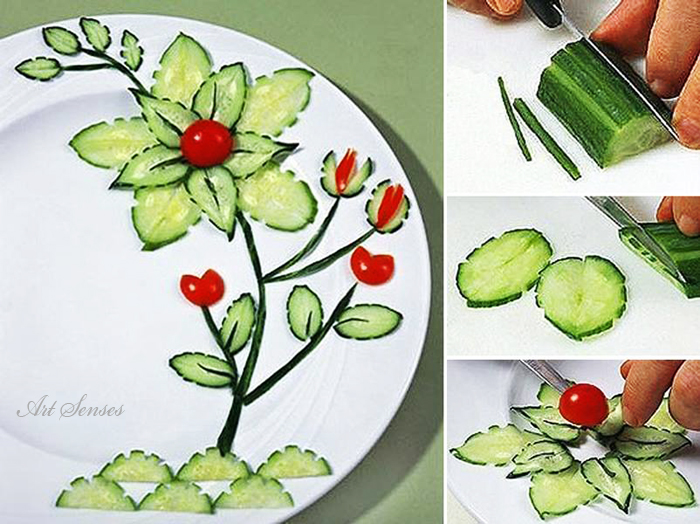 Девет уникални идеи за декорация на храна