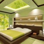 Окачени тавани в спалнята (18)