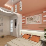 Окачени тавани в спалнята (23)