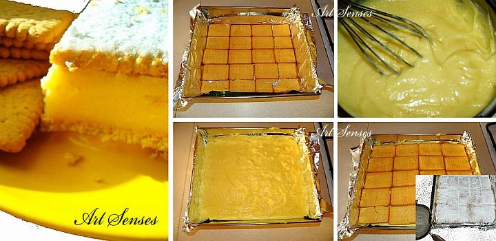 Наполеон с бисквити - бърз и лесен десерт