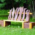 Направи си сам дървена градинска пейка с цветарник