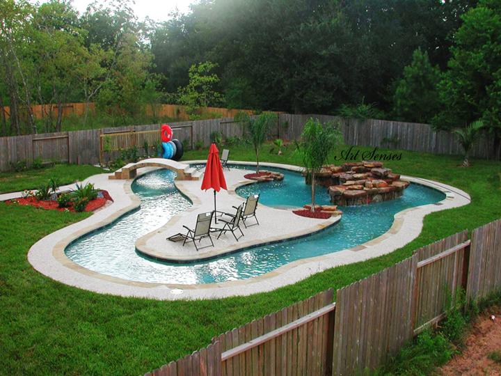 Идея за басейн в градината