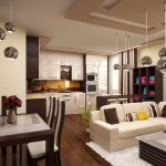 Идеи за дневна с кухня (10)
