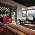 Стилен апартамент с цветни контрасти (11)