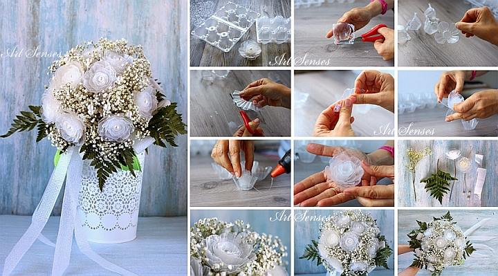 Направи си артистични цветя от кутии за яйца