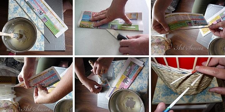 Плетене с вестници - направи си кошница